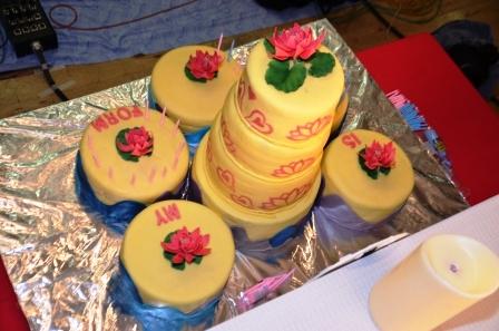 birthday cake 90 candles for swami s birthday singing happy